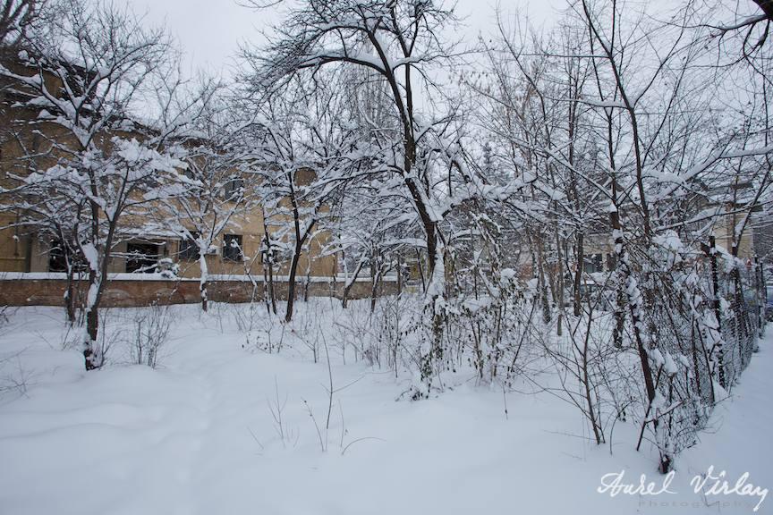 Fotografie de iarna in Bucuresti