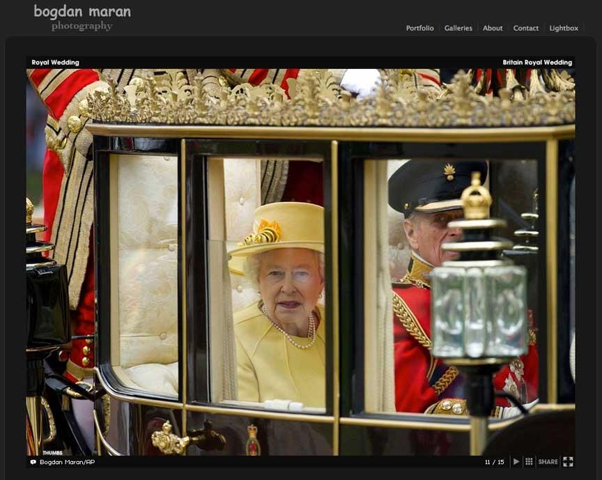 Regina Angliei la Nunta Secolului.