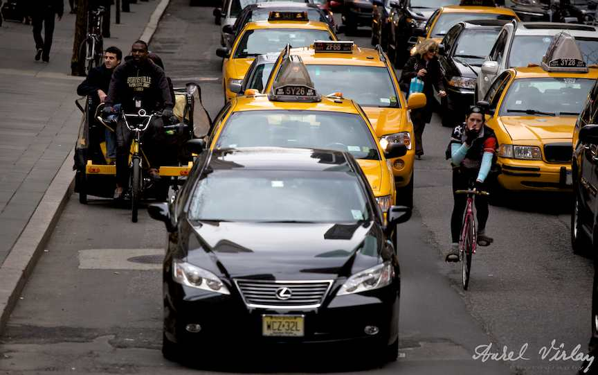 NewYork-circulatie-masini-biciclete