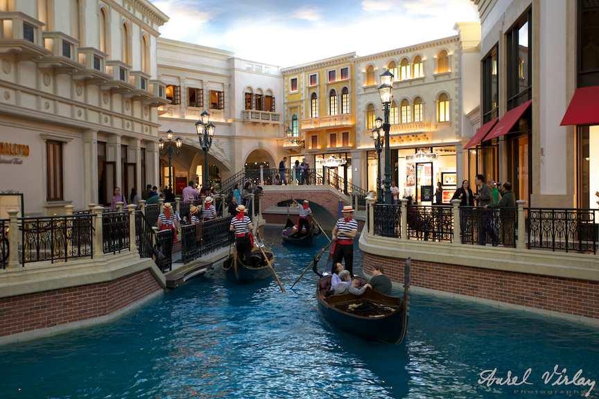 Las Vegas U.S.A. - Fotografie interior hotel The Venetian.