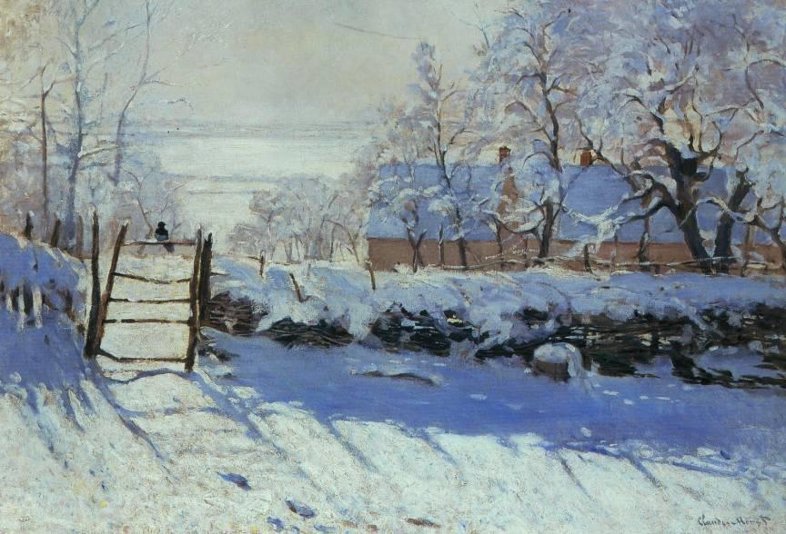 Pictura-Claude-Monet-The-Magpie-La-Pie-Cotofana