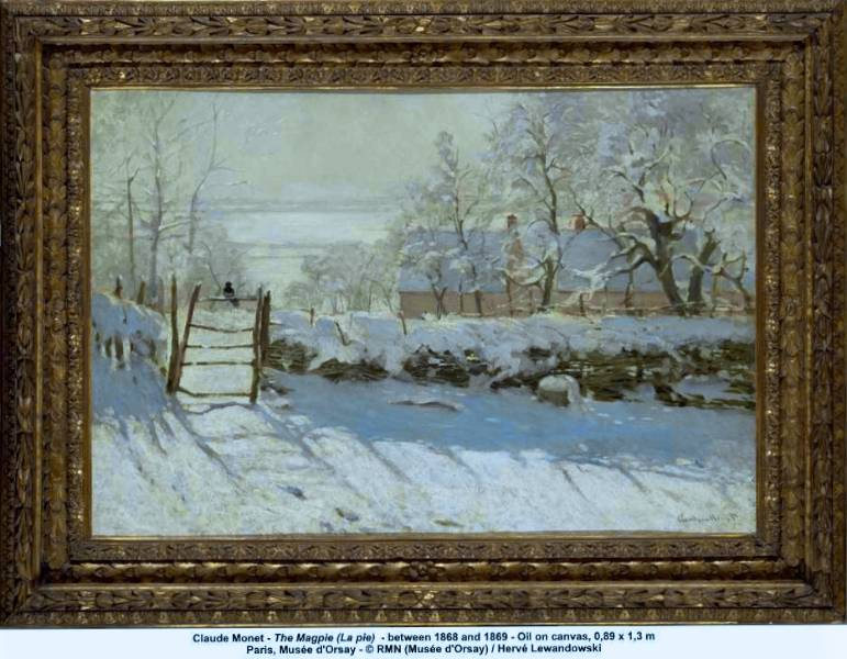 Claude-Monet-The-Magpie-La-Pie-1869-pictura-inramata
