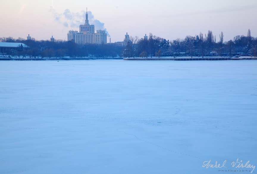 Lacul Herastrau inghetat - Fotografii peisaje iarna