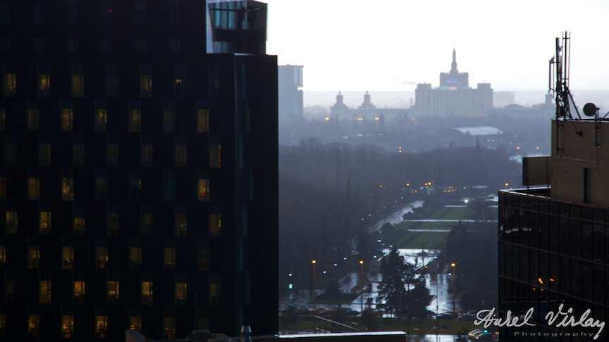 Eseu fotografic Casa Presei Libere vazuta de pe turnul TVR.
