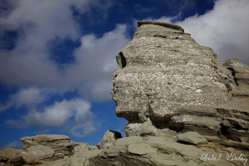 Sfinxul din Bucegi - Una din fotografiile pentru care mii de turisti urca Muntii Bucegi.