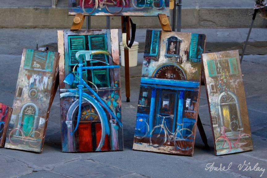 Bicicleta ca motiv de inspiratie pentru pictori si fotografi.