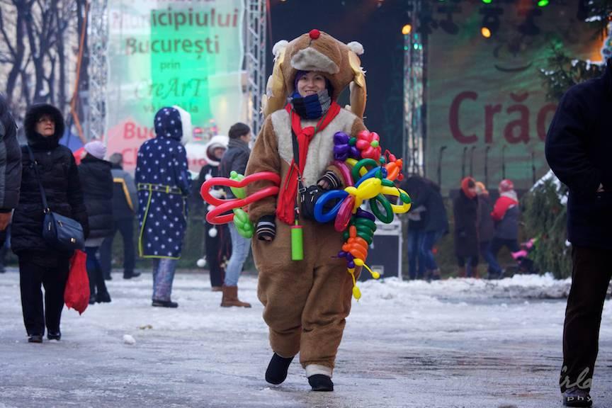 Actrita Ren _Bucharest-Christmas-Market Piata-Universitatii Sarbatori Iarna