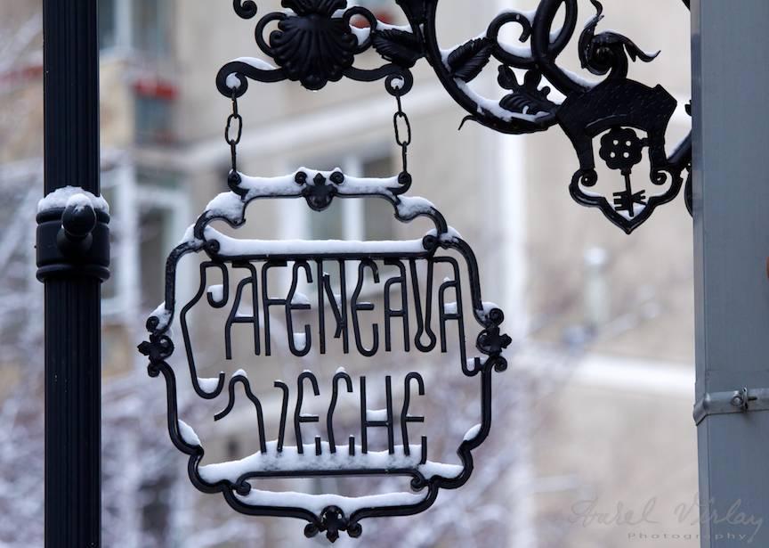 Cafeneaua Veche intr-o dimineata de iarna.