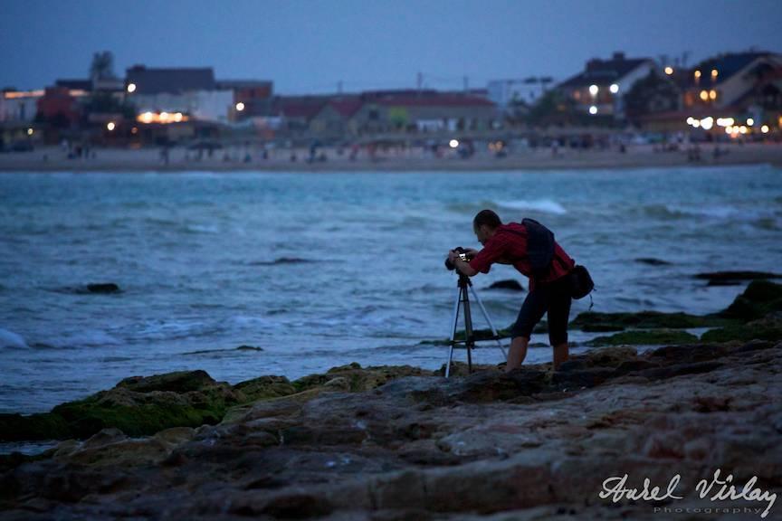 Silueta-fotograf Aparatul foto stativ trepied Vama Veche