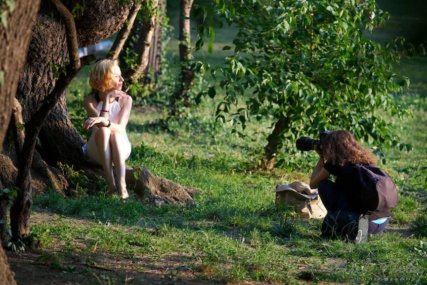 Sedinta Foto in Parcul Cismigiu.