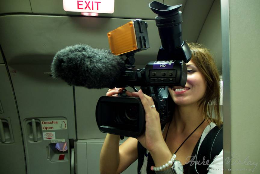 Portret foto cameragirl - Exit