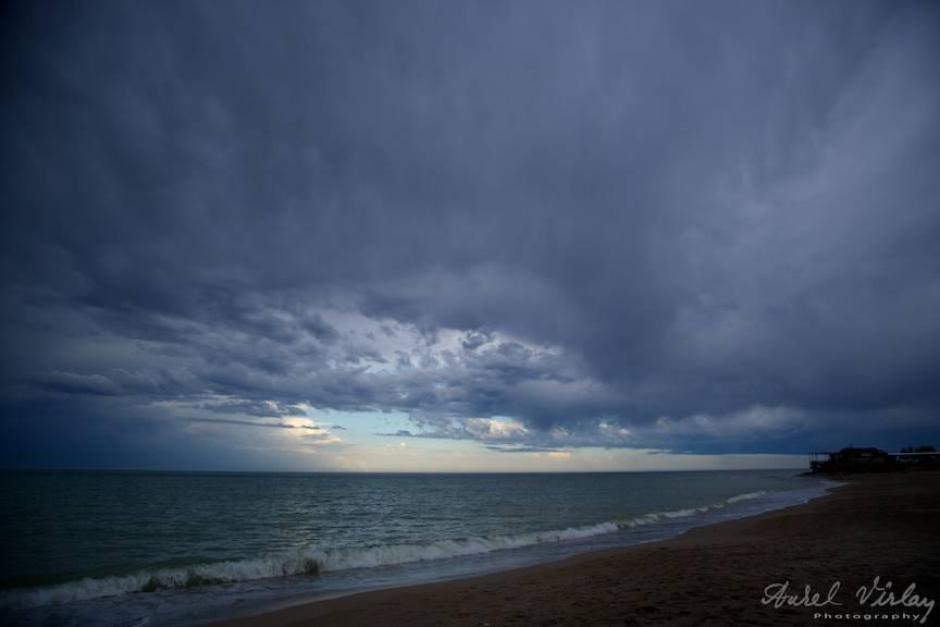 Vama Veche Fotografii peisaj cer nori albastri -26