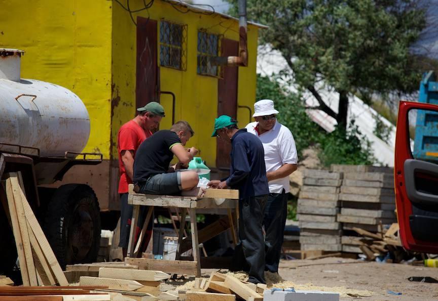 Vama Veche imagini fotoAV -26 pauza de masa muncitori