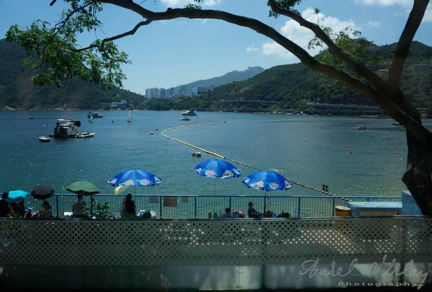 Fotografie cu zona de plaja din Hong Kong.