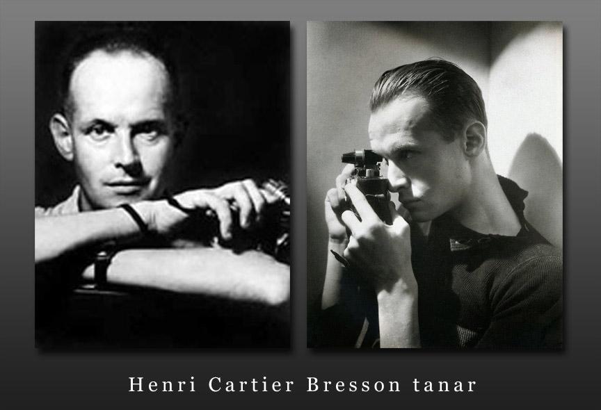 Tanarul Fotograf Henri Cartier Bresson si aparatul foto Leica.