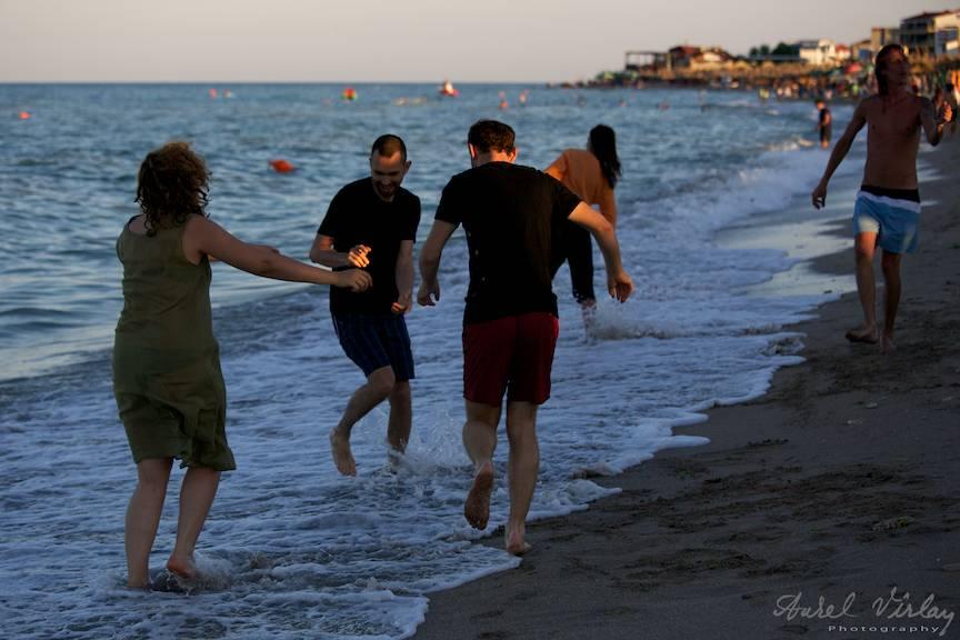Fotografii de making-off cu atmosfera Miscarii de Rezistenta din Vama Veche.