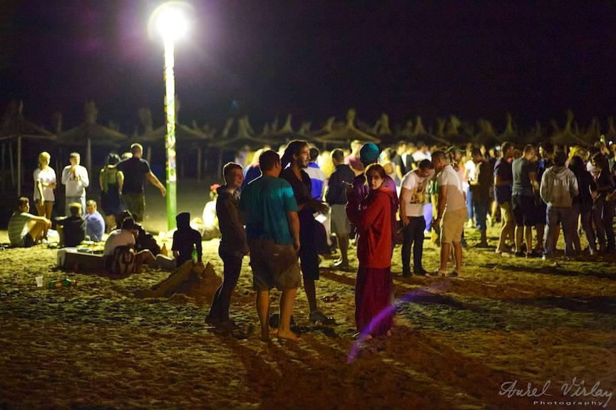 Fotografia lumina existenta in Vama Veche noaptea la Stuff.