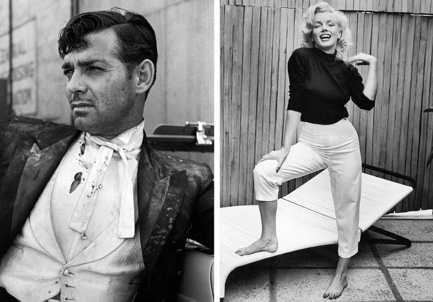 Portrete Foto Vedete: Clark Gable si Marylin Monroe - photo by Alfred_Eisenstaedt.