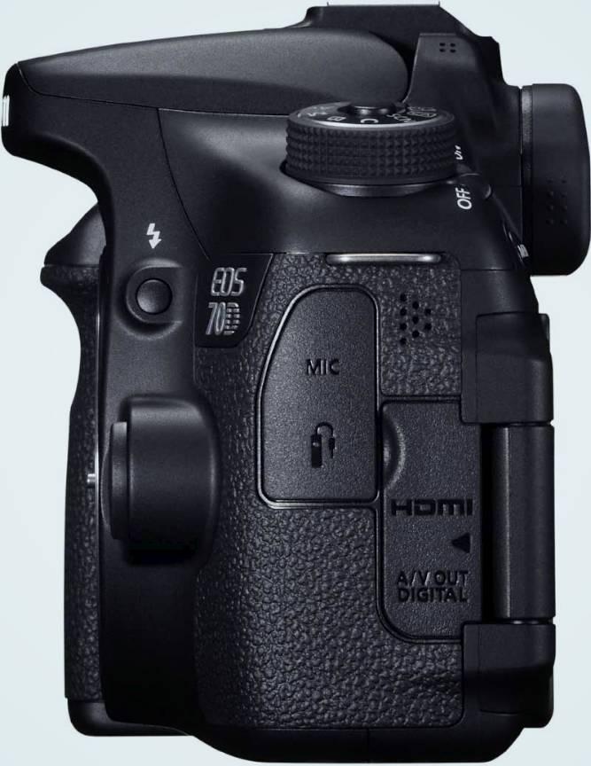 Canon EOS 70D Conexiuni in fotografie-laterala.