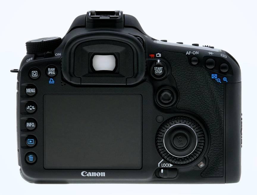 Canon 7D - Display 3inch - fotografie spate aparat.