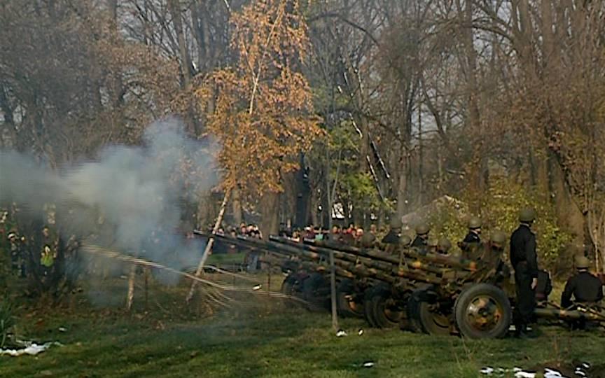 De 1 Decembrie au fost trase 21 de focuri de tun, iar 6 au lovit un copac din Herastrau.
