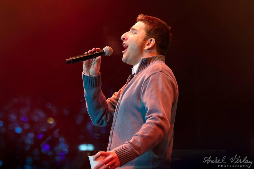 Portret foto concert live Silviu Biris.