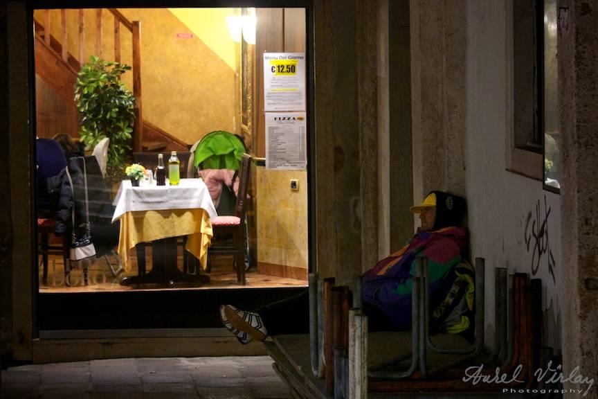 Homeless in Italia.