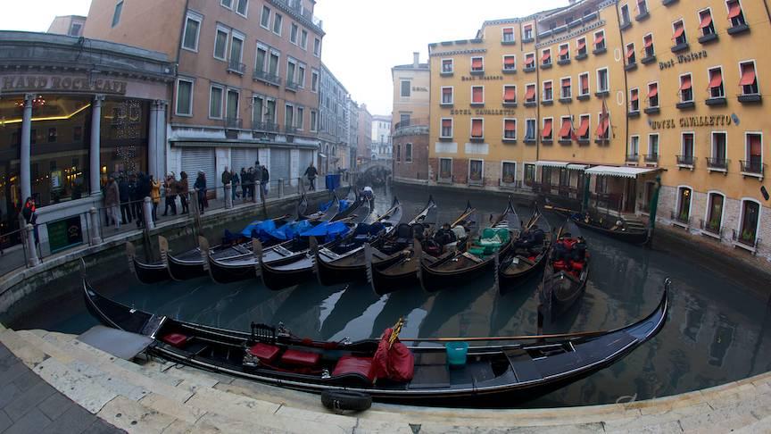 Fish-Eye lens in lumea semi-acvatica a Venetiei.
