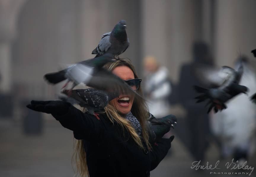 The Decisive Moment al fotoreportajului cu porumbei din Piata San Marco.