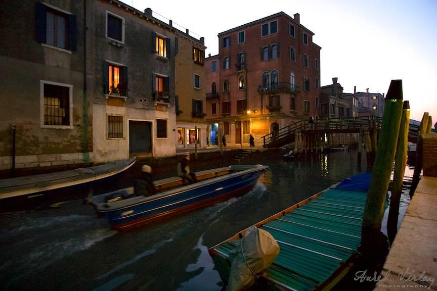 Cum arata Venetia noaptea.