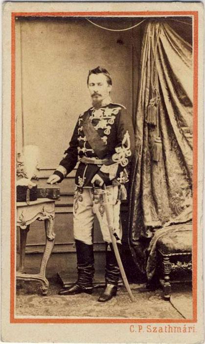 Prima Fotografie a Domnitorului Alexandru Ioan Cuza facuta de pictorul-fotograf Carol Popp de Shathmary.