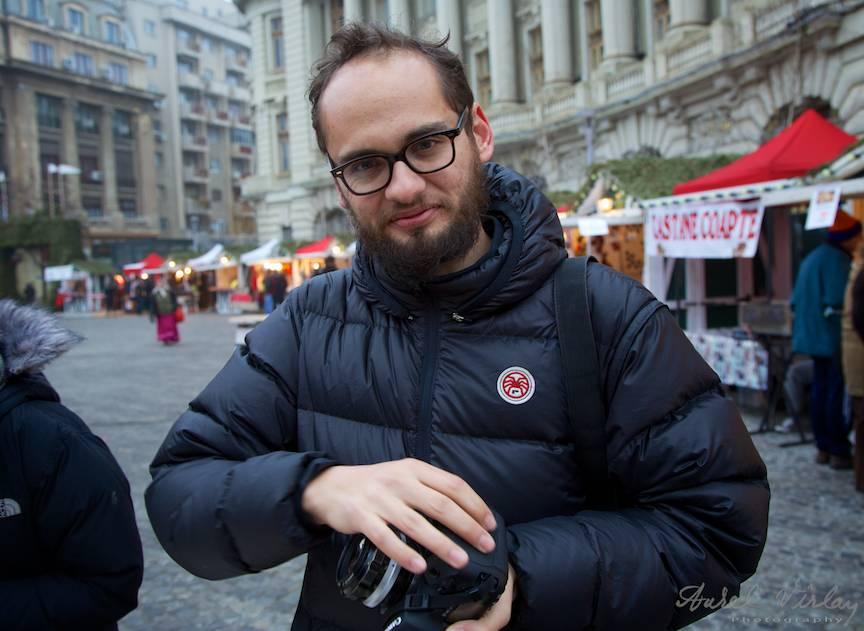 Fotograful mexican Carlos Correa R. la Bucharest Christmas Market.