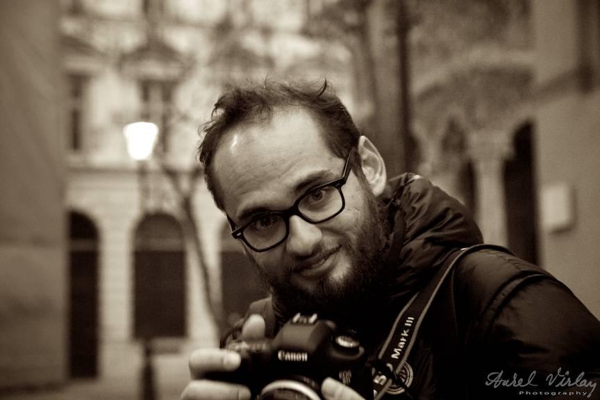 Portretul foto editat sepia in Aperture al fotografului mexican Carlos Correa Reynoso.