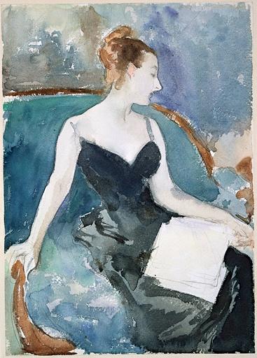 Madame Gautreau de John Singer Sargent circa 1883.