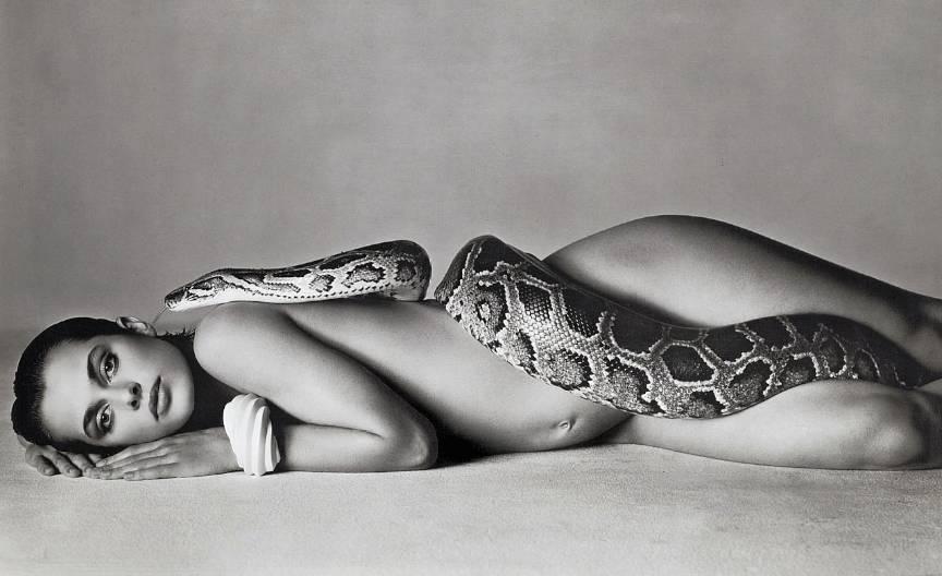 Viziune fotografica Richard Avedon cu Nastassja-Kinski si sarpe: 14 Iunie 1981 pentru Voque.