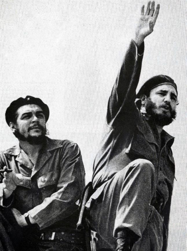 Fotografie emblematica: Che Guevara El Comandante si Fidel Castro .