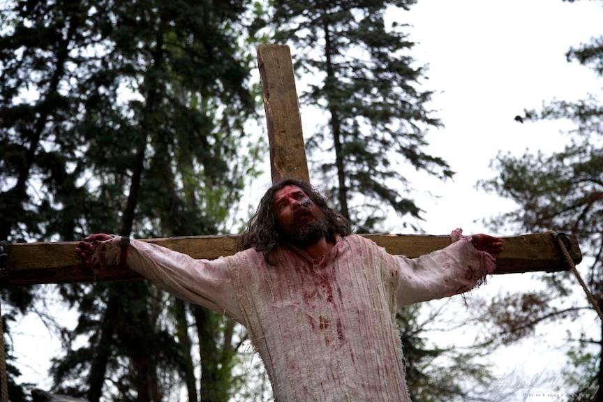 Patimile lui Iisus pe Cruce.