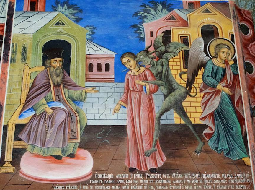 _Manastirea Rila Bulgaria Foto-Aurel-Virlan 09 spovedania mincinoasa cu cel necurat soptind la ureche