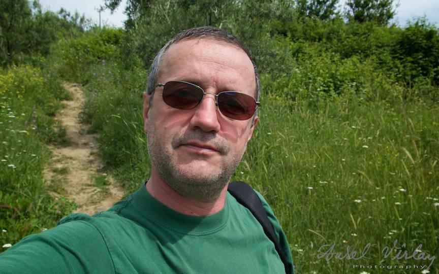 Autoportret Selfie in prima zi a pelerinajului meu pe Muntele Athos.