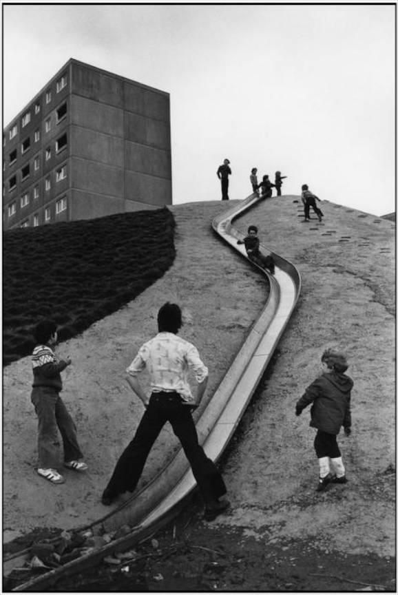 Anglia Yorkshire - Suburbii Newcastel upon Tyne foto Martine Franck 1977