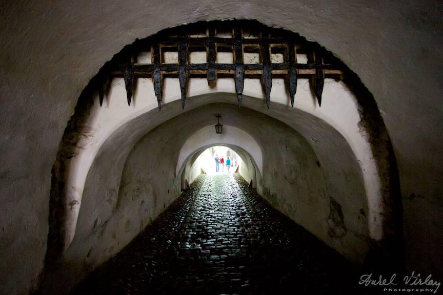 Tunelul de 50 metri si gratarul de protectie pentru oprirea invadatorilor.