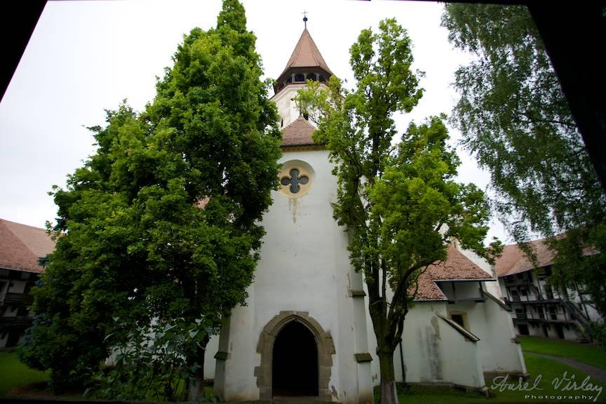 In curtea principala, Biserica Fortificata Prejmer atestata documentar din anul 1240.