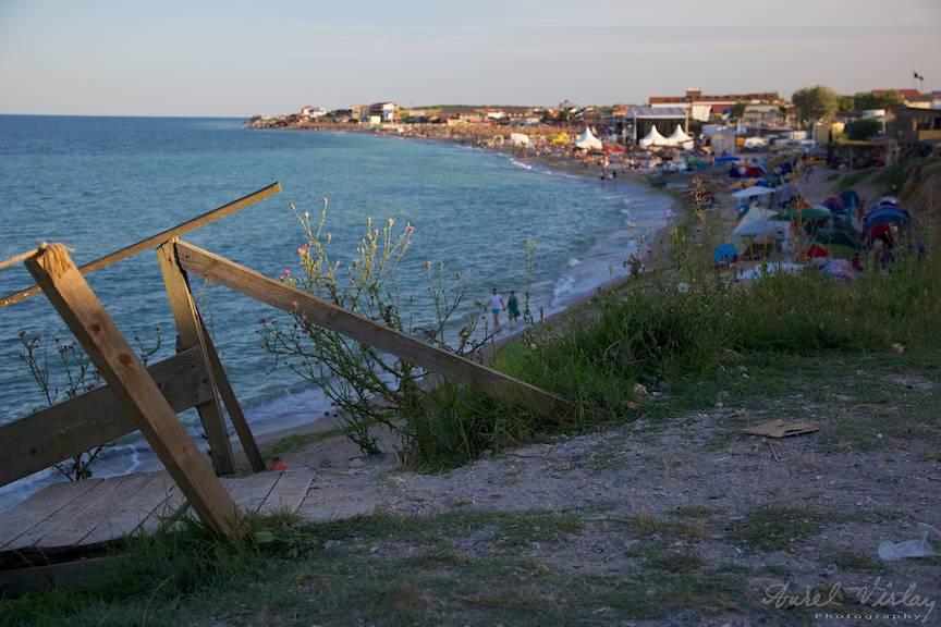 Peisaj vamaiot cu plaja vazuta de la Pescarie.