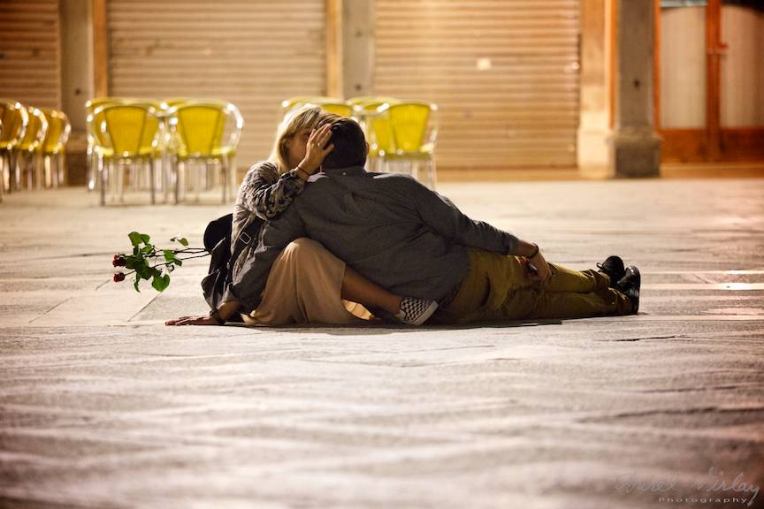 Doi indragostiti in Venetia tema foto iubirea - Aurel Virlan - 08 noaptea iubirii