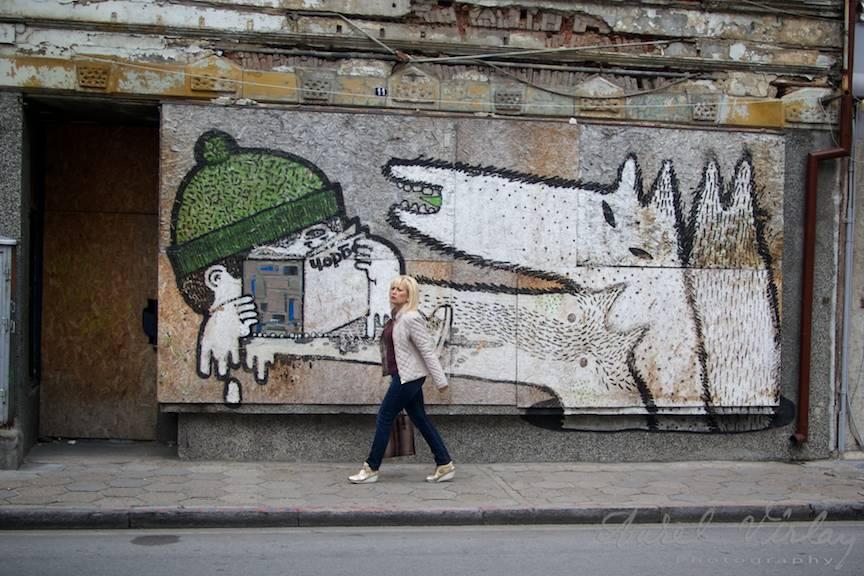Excursie Velico-Tarnovo - Foto Aurel Virlan - 05 grafitti pe zid la strada