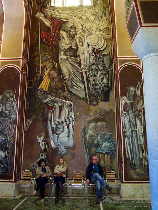 Excursie Velico-Tarnovo - Foto Aurel Virlan - 14 alegorii scene biblice  pictate in viziune moderna