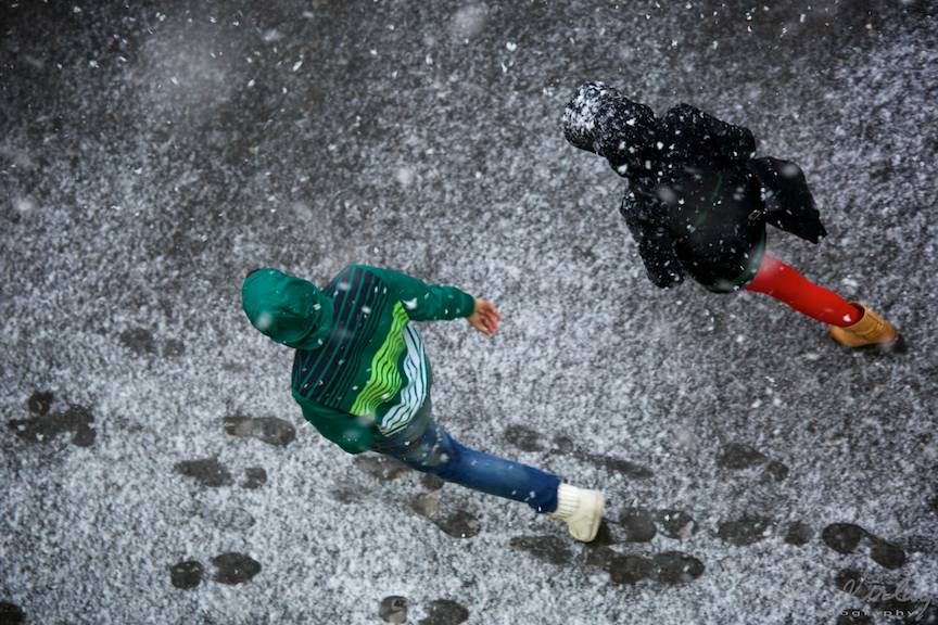 Fotografii prima ninsoare Bucuresti fulgi strada - FotoAurelVirlan e 21