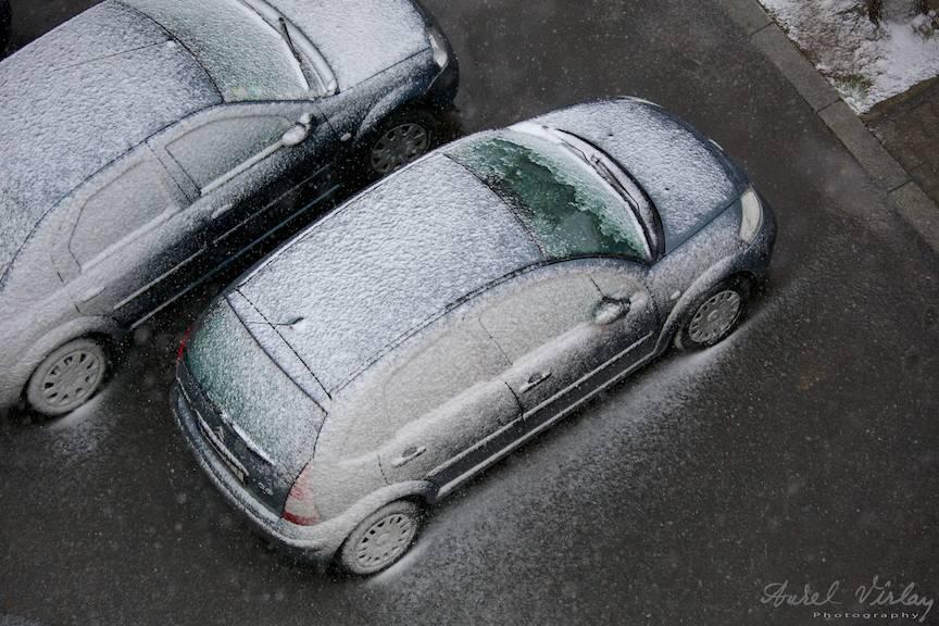 Fotografii prima ninsoare Bucuresti fulgi strada - FotoAurelVirlan e 35