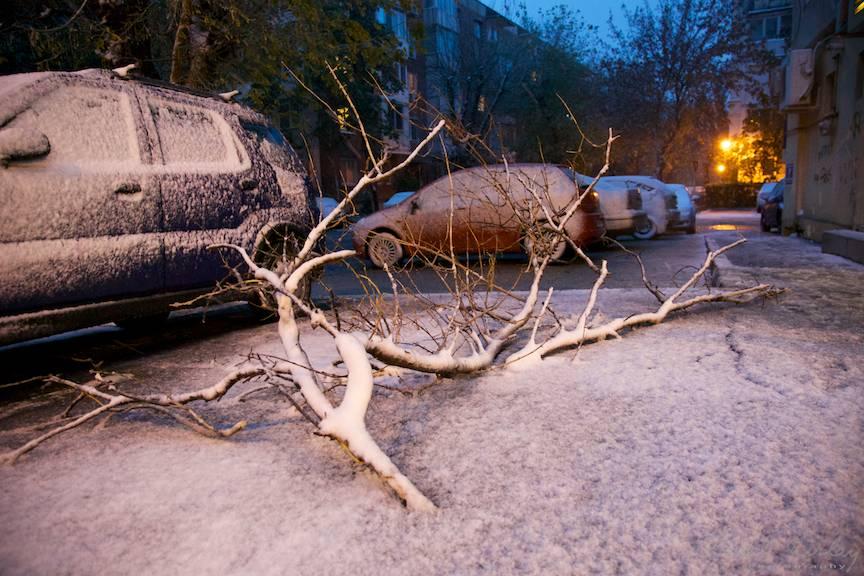 Fotografii prima ninsoare Bucuresti fulgi strada - FotoAurelVirlan e 43