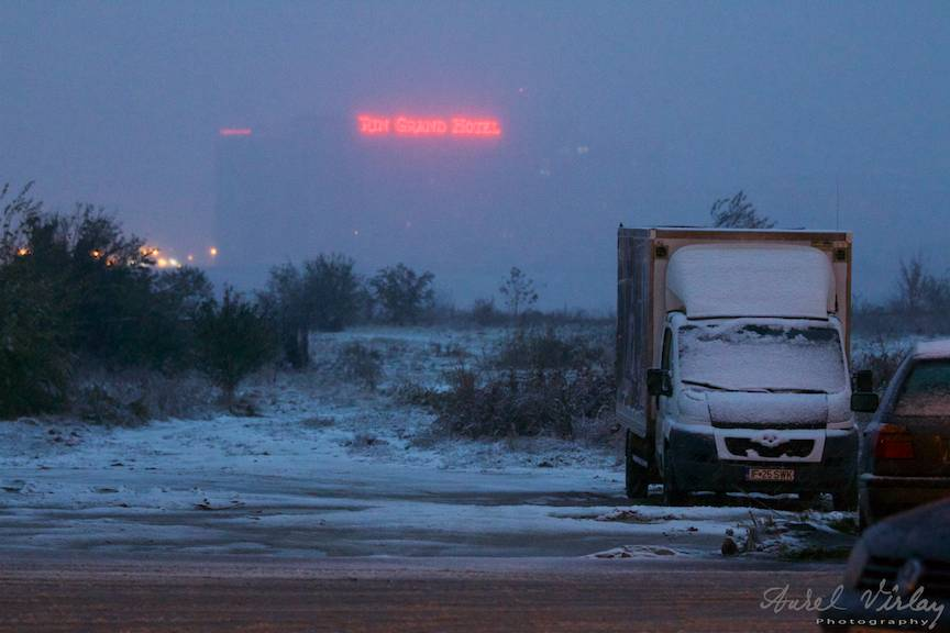 Fotografii prima ninsoare Bucuresti fulgi strada - FotoAurelVirlan e 44